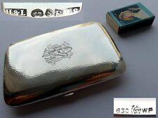 Sehr großes Zigarettenetui, Silber, Schweden, Jahr 1937 G529