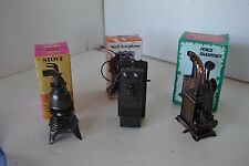 Pencil Sharpener Lot of 3 Miniature Die-Cast Metal Lot2 Stove Telephone Camera