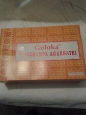 incienso goloka  amarillo agarbathi , 12 por 16g , relax , ambiente  192 gramos