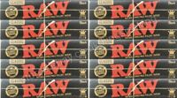 Raw King Size Black Rolling Papers Hemp Kingsize Paper Set 10 Booklets