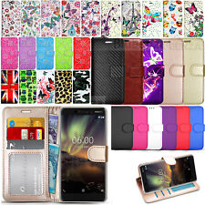 For Nokia 6 2018 / Nokia 6.1 - Wallet Leather Case Flip Cover + Screen Film