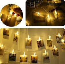 5x 40 LED Photo Peg Clip Fairy String Lights Hanging Picture Wedding Party Decor