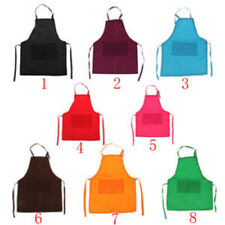 Childrens Apron With Front Pocket Cooking Baking Crafts Chef School  (good size)