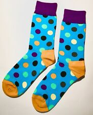Aqua Mens Happy Colourful Spotted Dress Business Cotton Socks size 7-11 Mr1421