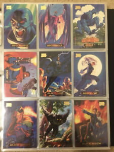 1994 Marvel Masterpieces Trading Cards COMPLETE BASE SET, #1-140 - NM/M! - Fleer