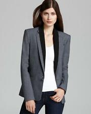NWT $475 THEORY 10 M Donelly Charcoal Gray Wool Cotton Blend Sexy Blazer NEW