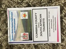 Cumbria v South Africa rugby League Programme 2008