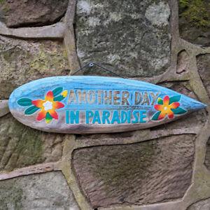 Tiki Bar Surfboard Sign Another Day in Paradise Garden Bar Man Cave, Home Bar