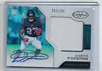 2017 Panini Certified Football Rookie Patch Auto D'onta Foreman RC 260/299