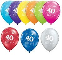 "40th Birthday Party Balloons 11"" {Qualatex} Pack of 6 (Helium Quality/Age 40)"