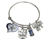 Dallas Cowboys Bracelet, Womens Cowboys Jewelry & Dallas Cowboys Gift