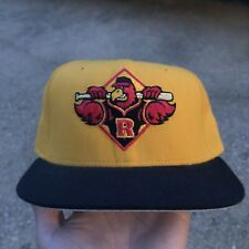 Vintage Rochester Red Wings Hat New Era Pro Model Fitted Minor League Yellow