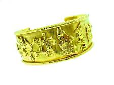 JEAN  MAHIE  22K  WIDE   CUFF  BRACELET       CHARMING  MONSTERS