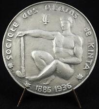 Médaille mineur étains mines Kinta Kampar 1936 Indonésie Sumatra Tin mines Medal