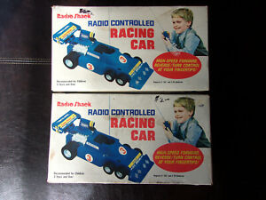 RADIO SHACK REALISTIC PAIR OF 6 WHEEL FORMULA 1 #3 RC RACING CARS TESTED WORKG