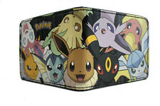 Pokemon Eevee and Evolutions Group Black Bifold Wallet NEW