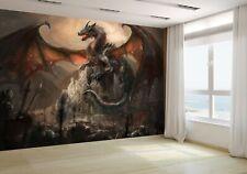 Guerra con la Dragón en Castillo Papel Pintado Mural Foto 29391993 Económico
