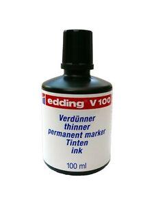 Edding V100 Verdünner/thinner 100 ml Fleckenentferner für permanent marker ink