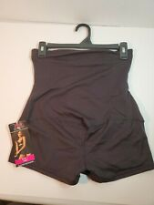 NEW Maidenform Firm High-Waist Boyshort #00850 BLACK LARGE (20)