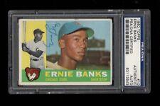 1960 Topps BB #010 Ernie Banks Chicago Cubs AUTOGRAPH PSA/DNA AUTH HOF 1977 !!!