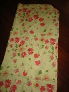 PINK CAMPIONS SPRING YELLOW & GREEN FLORAL (1) HEMMED OBLONG TABLECLOTH 56 X 92