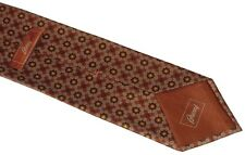 NEW BRIONI TERRACOTTA SILVER MAROON ROYAL BLUE FLORETS 100% SMOOTH SILK NECK TIE