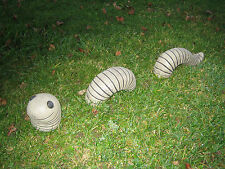 worm stone garden ornament
