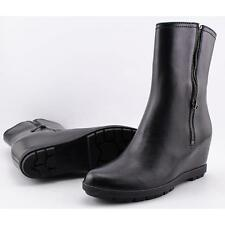PRADA 100% Leather Upper Ankle Boots for Women