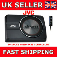 JVC CW-DRA8 Compact Powered Under seat Subwoofer 250W Active With Bass Control