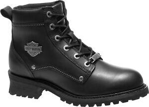 Harley-Davidson® Men's Bozeman Black Leather Motorcycle Boots D96156