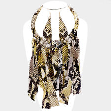"""Statement Gold """"The Browns"""" Snake Cord Choker Necklace Set By Rocks Boutique"""