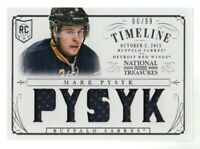2013-14 National Treasures Rookie Timeline Jersey #RT-MPY Mark Pysyk /99