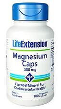 3X $8.65 Life Extension Magnesium Caps 500 mg muscle cramp bone strength NON GMO