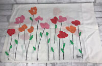 "Vintage Burlington Vera Neumann Retro 70s Pillowcase Poppy Flower Floral 20x29"""