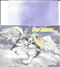 Funny Mother's Day Angel Cat Crooked Halo & Wings Leanin' Tree Greeting Card