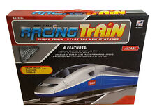 New Kids Battery Operated Super Racing Track Train Speed Control Gift Toy UK