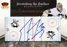 10-11 Crown Royale SCRATCHING THE SURFACE AUTO xx/100 Made! M-A FLEURY Penguins