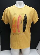 Reef SHORT SLEEVE TSHIRT VINTAGE GRAPHIC LIFE'S SHORT GO SURFING  XL YELLOW SURF