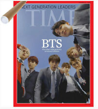 BTS Cover TIME Asian Edition Oct 2018+Unfolded BTS Poster, safety tube wrapping