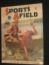 SPORTS AFIELD COMPLETE 96 PG MAG 5/1941 WALTER H HINTON FISHING COVER AMMO ADV