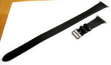 Black Genuine Leather Double Tour Strap Bands Made For 38mm Apple iWatch2