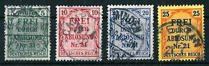 Deutsches Reich D3 bis D6   o
