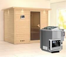 Karibu Sauna Sonara 40mm Dachkranz + Bio Ofen 9kW extern classic Tür