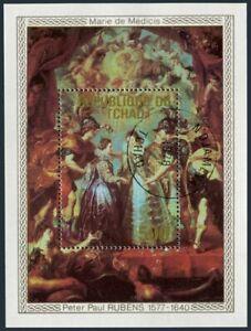 Chad 353,CTO.Michel 839 Bl.73.Peter Paul Rubens,paintings 1978.Marie de Medicis.