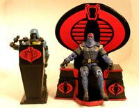 Gi joe cobra 3d printed  cobra commander Throne & Podium Destro or Serpentor