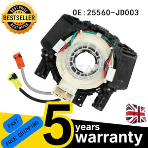 For Nissan Qashqai 2006 Airbag Squib Clock Spring Sensor Spiral Cable 2 Plugs NS