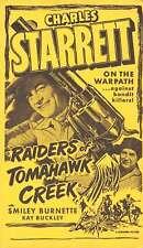 Raiders of Tomahawk Creek Charles Starrett Western Film Ad Postcard J76732