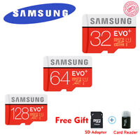 S EVO+ 80MB/S TF Flash MicroSD Memory Card 32G 64G 128G C10 UHS-I With Adapter