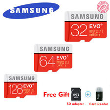 Samsung EVO+ 80MB/S Flash MicroSD Memory Card 32/64/128GB C10 UHS-I With Adapter