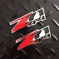 New - 2x Z71™ 4x4 Chrome & Red Emblem Badge Logo Chevy GM GMC Silverado Sierra